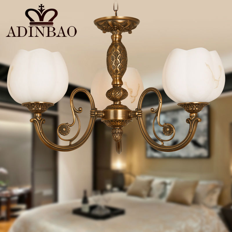 2015 New Fashion European style Copper Glass chandelier 8007-3<br><br>Aliexpress