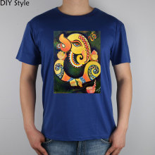 Ganesha Art - Google Search t-shirt Top Lycra Cotton Men T Shirt New Diy Style(China)
