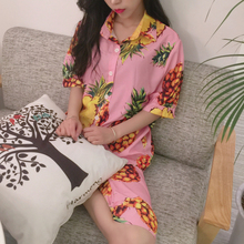 Summer wear the new female fashion pineapple fruit lovely big yards pajamas two-piece household