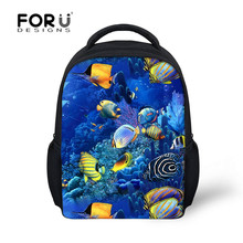 FORUDESIGNS sea school back pack for boys and girls infantil schoolbags for kindergarten school bag,back pack kids Baby Daypack(China)