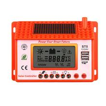 PWM 10A Solar Charge Controller 12V 24V LCD Display Intelligent Solar Panel Battery Charge Regulator Dual USB CE Certify PJW
