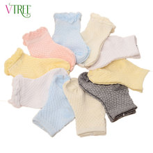 V-TREE children socks cotton socks for girls boys net calcetines kids breathable school socks kids football socks school stuff