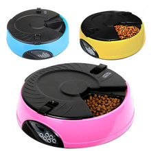 6 Meal LCD Digital Automatic Pet Dog Cat Feeder Recorder Bowl Meal Dispenser FG