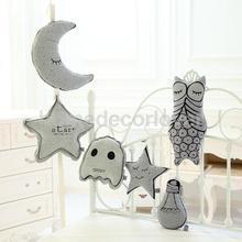 Luminous Back Cushion Baby Kid Throw Pillow Comforter Toy Home Wall Bedroom Decor Glow In Dark Star Moon Owl Ghost Lamp Bulb