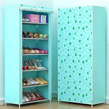 Shoe rack 7-layer 6-grid Multi Color Non-woven fabrics shoe cabinet shoe organizer removable shoe storage for home furniture(China)