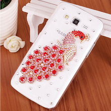 Buy New Luxury 3D Peacock Bird bling Crystal Mobile phone Shell Back Cover Skin Hard Case Samsung Galaxy core 2 core2 G355H G355 for $4.89 in AliExpress store