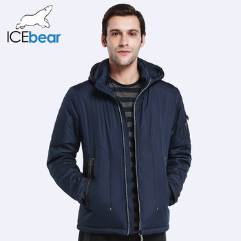 ICEbear 2017 Короткие Хлопка Куртка Для Мужчин Плюс Размер Мужчины Дополняется Вниз Пальто Теплая Осень и Весна Твердые Куртка 17MC209D
