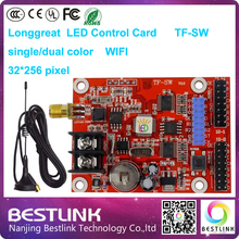 longgreat led control card tf-sw wifi controller card 32*256 pixel dual color led sign wireless led display screen moving text