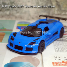 5pcs/pack Wholesale Brand New KT 1/36 Scale Germany 2010 Gumpert Apollo Sport Diecast Metal Pull Back Car Model Toy(China)