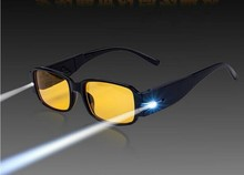 NEW Yellow lens Night Vision aged Glasses LED lighting Check function anti fatigue Special reading presbyopic Glasses 7 models