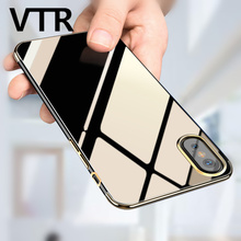 soft transparent case for iphone x full cover tpu silicone protection case for iphone X clear shell Ultra Thin phone bag case(China)