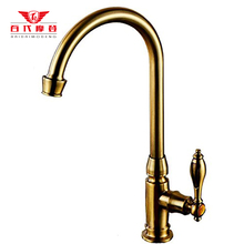 2015 Rushed Torneira Para Cozinha Torneira De Cozinha Antique Copper Single Cold Faucet Kitchen Vertical Wall Water Pool Sink
