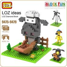 LOZ Diamond Blocks Cartoon Dog Sheep Action Figure Building Blocks Nano Pixels Plastic Assembly Toys Educational DIY 9475-9479(China)