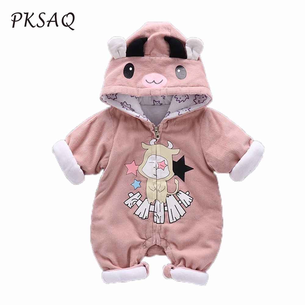 2017 Fall and winter new Jumpsuit Taurus baby go out to climb plus cotton long-sleeved baby clothes Siamese thick Rompers H0102<br>