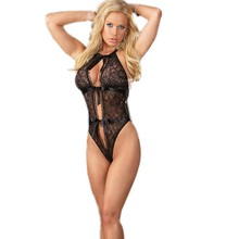 Sex shop 2016 new arrival women nightwear lace transparent erotic babydoll open cup cutout chemise sexy lingerie hot
