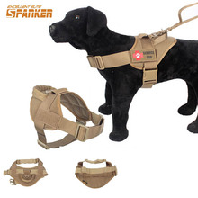 Tactical Dog Training Vest 1000D Nylon Pet Dog Patrol Training Dog Clothes Outdoor Adjustable Patrol Harness Service