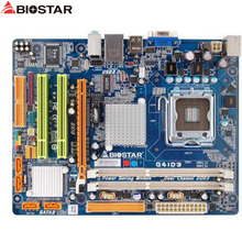 original Used Desktop motherboard For BIOSTAR G41D3 G41 support LGA 775 2*DDR3 support 8G 4*SATA2 USB2.0 Micro ATX