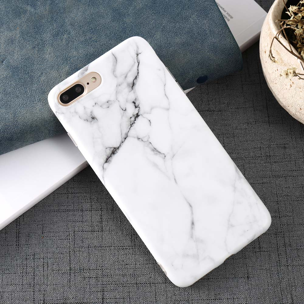 Luxury Marble Pattern i 7 Phone Cover Case For iPhone 7 Plus Soft TPU Back Cover For iPhone7 Plus Black Phone Accessories Coque (20)