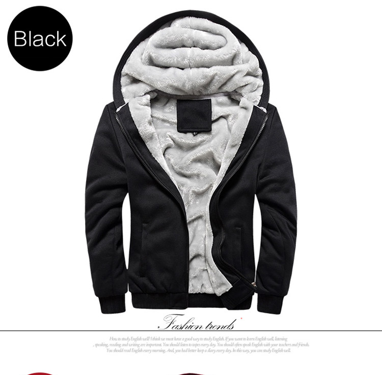 Hoodies Sweatshirt Men 17 New Autumn Winter Warm Thick Solid Casual Brand Tracksuit Men's Sweatshirts Hooded Plus Size 5XL 3