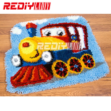 DIY Carpet Rug Lovable Kitten Latch Hook Rug Kits Crocheting Blanket 100% Acrylic Yarn Cushion Set for Embroidery Unfinished Mat(China)