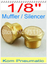 "Free Shipping Brass Exhaust Muffler 1/8 inch BSP 1/8"" Pneumatic Plugs Silencer Fitting BSLM-01 Noise Filter Reducer Connector"