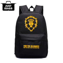 Harajuku boy Oxford men's backpack World Warcraft wow cartoon lion printing college high middle school book bags - Shop2959040 Store store