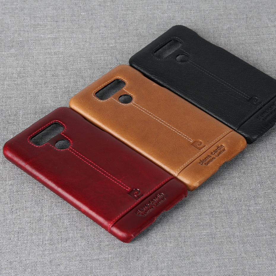 For LG G6 Case Luxury Genuine Leather Hard Slim Cover (2)