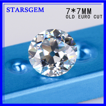 Synthetic diamonds EF white color 7*7mm 1.2 carat lab-created old european cut moissanites loose gems stones for jewelry making