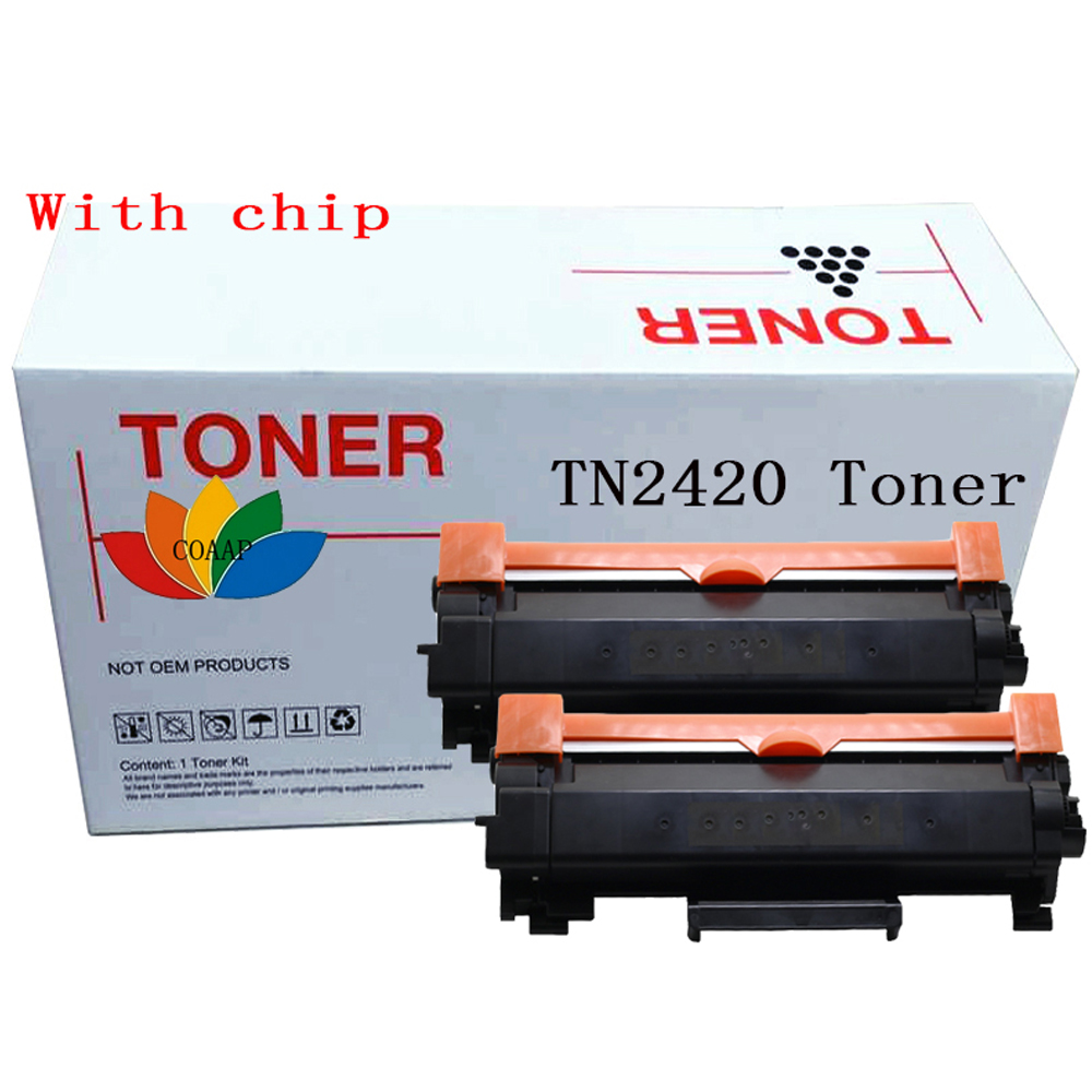 2 Pack TN2420 Compatible Black toner cartridge for Brother MFC L2730DW L2750DW L2710DN L2710DW & HL L2350DW L2310D L2357DW