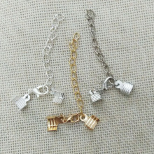 necklace bracelet flat leather cord crimp ends extended extension chains tails caps lobster clasp swivel hooks jump rings kolye