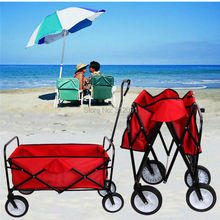 (Ship from Germany)  Mac Sports Utility Collapsible Folding Wagon Cart Garden Buggy Shopping Beach Storage Baskets