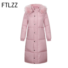 New Winter Parka Women Padded Jacket Fur Parka Cotton Padded Loose Long Hooded Warm Thicker Harajuku Style Korean Element Coat(China)