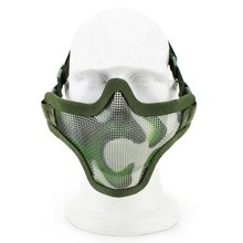 Olive Green Airsoft War Game Half Face Guard Mesh Mask Protector Protective Useful Tool