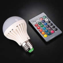 5W 16 Color RGB LED Light Bulb Party Home Lamp With 24Key IR Remote Controll LED Bulbs E27(China)