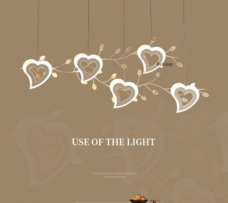 Romantic Love Heart LED Pendant Lights (1)