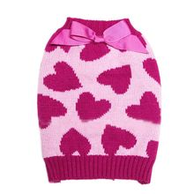 Pet Dog Sweater Winter Clothes Rose Red Bow Love Knitwear Pet Cat Dog Sweater Christmas Pet Coats Outerwear