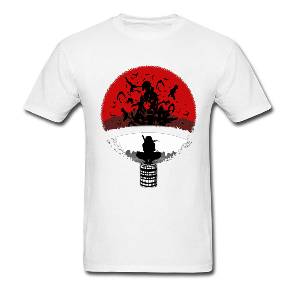 Itachi Uchiha Amazing Clan Round Collar T Shirt Father Day 3D Printed T Shirt Short Sleeve Popular 100% Cotton T Shirt Men's Itachi Uchiha Amazing Clan white