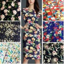 Many colors Good quality flower printed fabric for garment dress fabric cloth Skirt DIY accessories(ss-35)