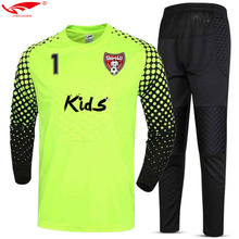 2017 New Quick Dry Boys Kids Youth Soccer Training tracksuits Suits Goalkeeper Jerseys Sets survetement football Uniforms(China)