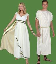 2016 Hot Greek Goddess Cosplay Roman Princess Costumes Arabic Prince Caesar Fancy Dress Party Halloween Women Men Athena Costume