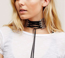 Europe and the United States Street shooting burst models retro silver carved lace female choker necklace accessories jewelry