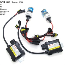 H1 H3 H7 H8/H9/H11 9005 HB3 9006 HB4 880 881 HID Slim Ballast kit 12V 55W Car Xenon Headlight 3000K-12000K Green Purple Pink