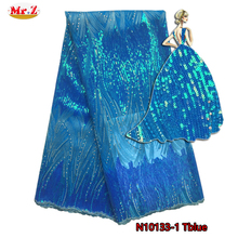 Mr.Z Sequin African Lace Fabric 2017 Nigerian Lace Fabrics African French Lace Fabric High Quality Embroidered Tulle Lace Fabric