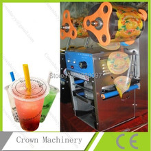 Full stainless steel Commercial Boba Bubble Tea Packaging Electric Cup Plastic Sealer Sealing Machine