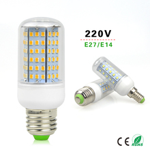 1Pcs E27 E14 220V Energy Saving Corn LED lamp Bulb 30-126 LEDs Replace 7W 12W 15W 20W 25W 30W 35W 40W Campact Incandescent light
