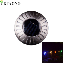 6LEDs Buried solar lights UFO Shape Outdoor Waterproof Garden Pathway Stairs Floor Lamp Light Energy Saving 6 Colors
