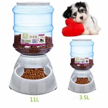 11L/3.5L Plastic Large Automatic Pet Dog Cat Feeder Dish Food Bowl Dispenser Pet Puppy Kitten Feeding Tools Portion Control