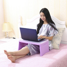 Laptop Desk For Lap Adjustable Reading Table Foldable Stand Sofa Bed Organizer Tray Notebook Stand Pad(China)