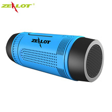 ZEALOT S1 Portable Wireless Bluetooth Speaker 4000mAh Mobile Power Bank, Microphone, Emergency Torchlight, FM Radio & TF Card