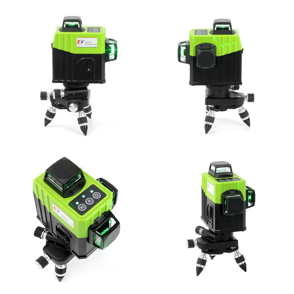 KaiTian 12Lines 3D Laser Levels Self-Leveling Cross Horizontal 360 Vertical Green Laser x Beam 532nm Line Lazer Nivel Level Tool view 1